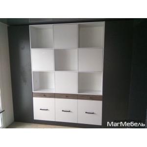 "Шкаф для книг ""Бело-серый"""